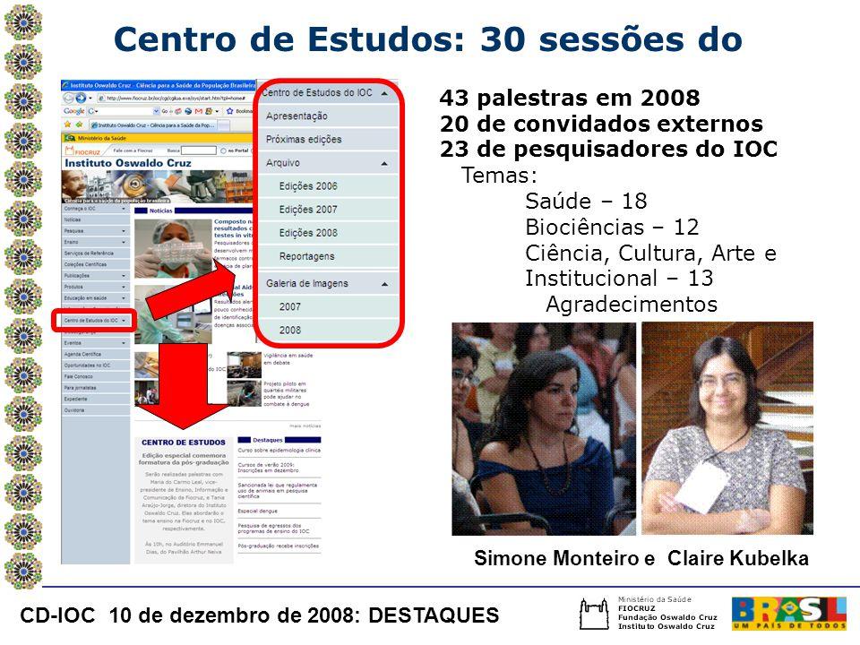 Centro de Estudos: 30 sessões do