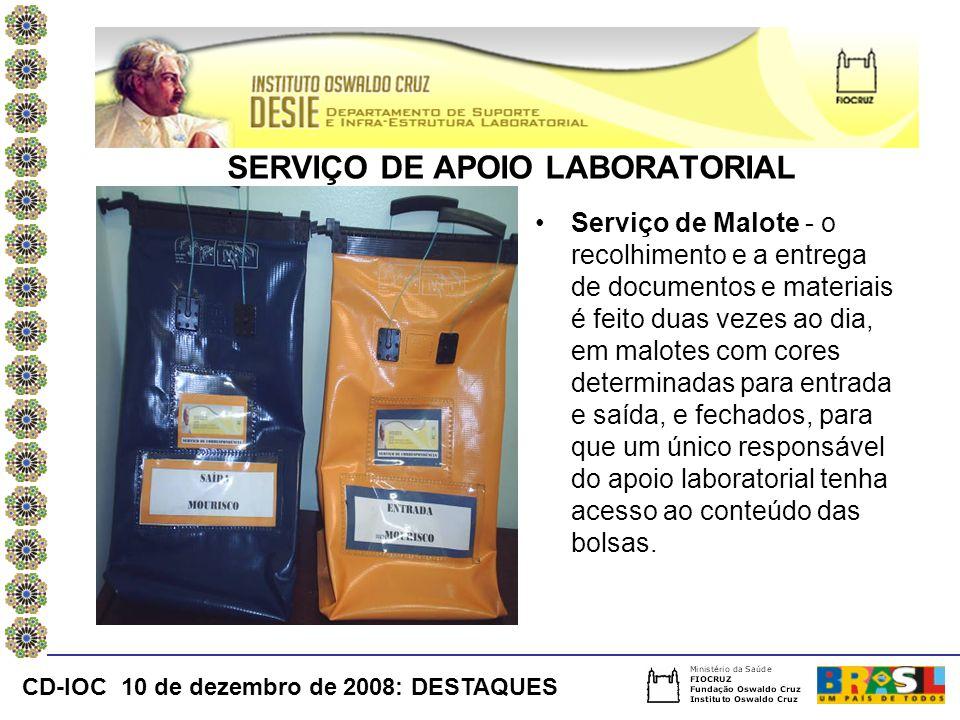 SERVIÇO DE APOIO LABORATORIAL