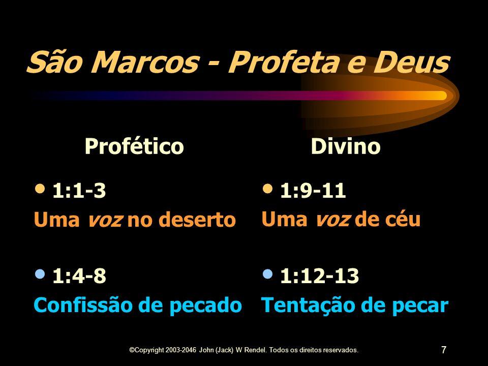 São Marcos - Profeta e Deus