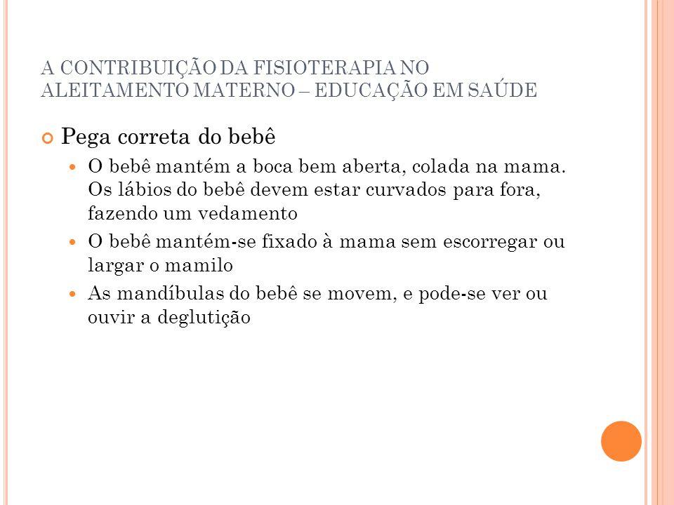 A CONTRIBUIÇÃO DA FISIOTERAPIA NO ALEITAMENTO MATERNO – EDUCAÇÃO EM SAÚDE
