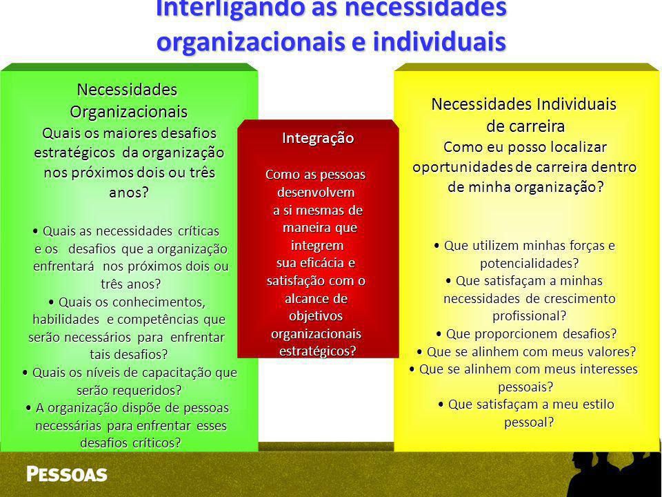 Interligando as necessidades organizacionais e individuais