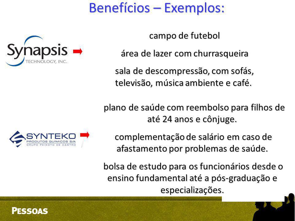 Benefícios – Exemplos: