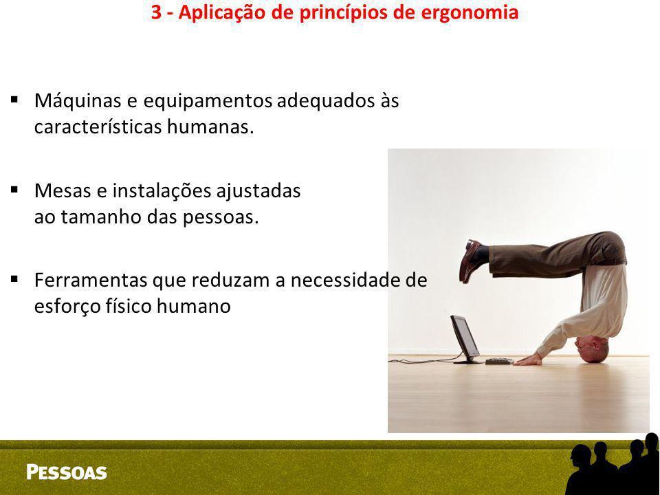 3 - Aplicação de princípios de ergonomia