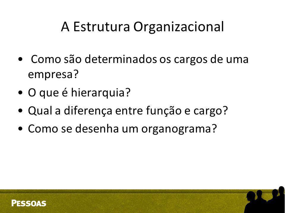 A Estrutura Organizacional