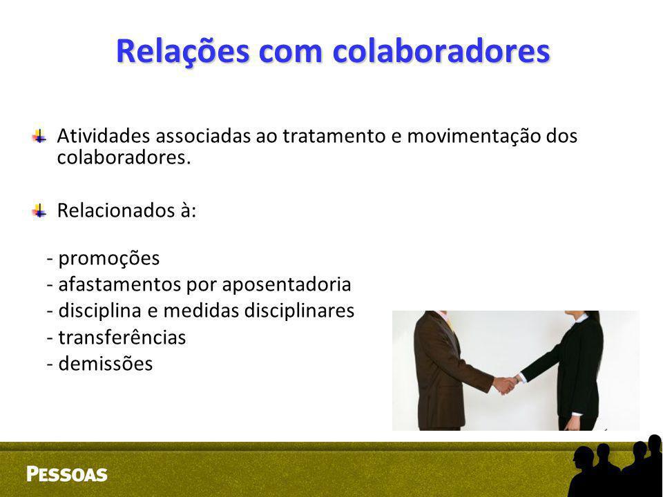 Relações com colaboradores