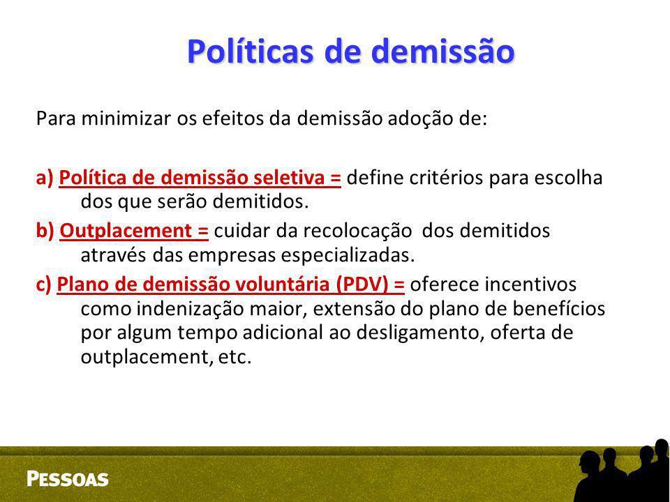 Políticas de demissão