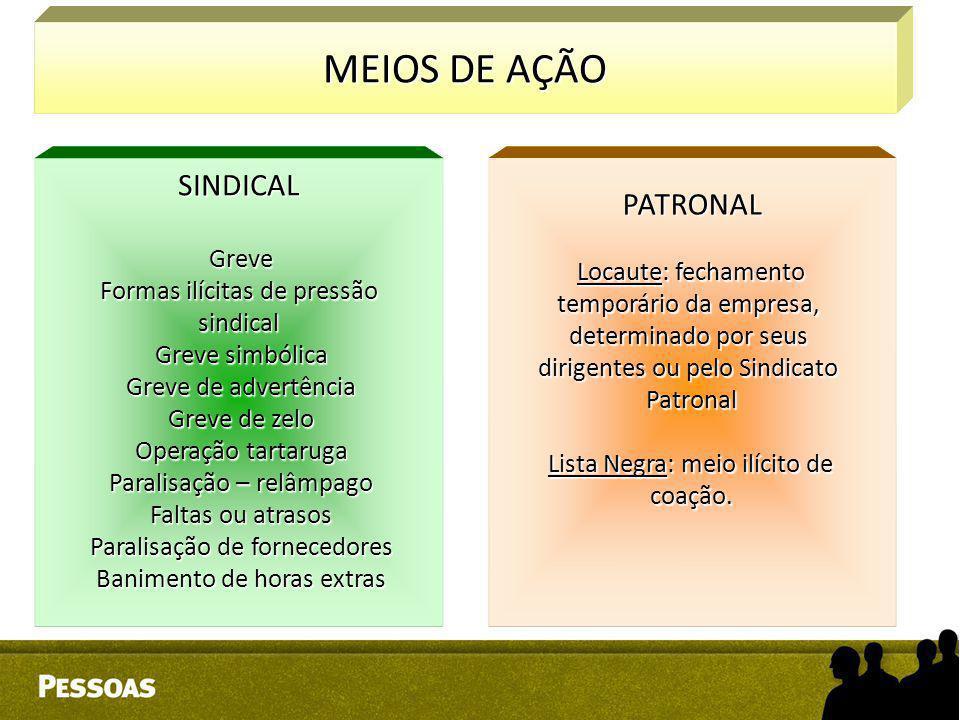 MEIOS DE AÇÃO PATRONAL SINDICAL Greve