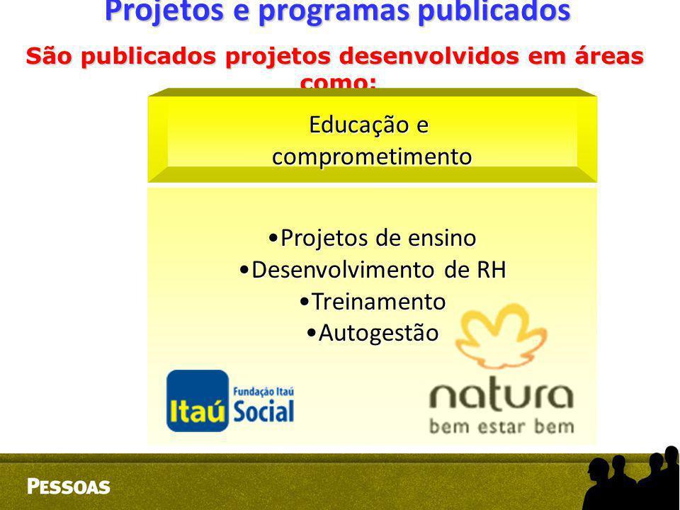Projetos e programas publicados
