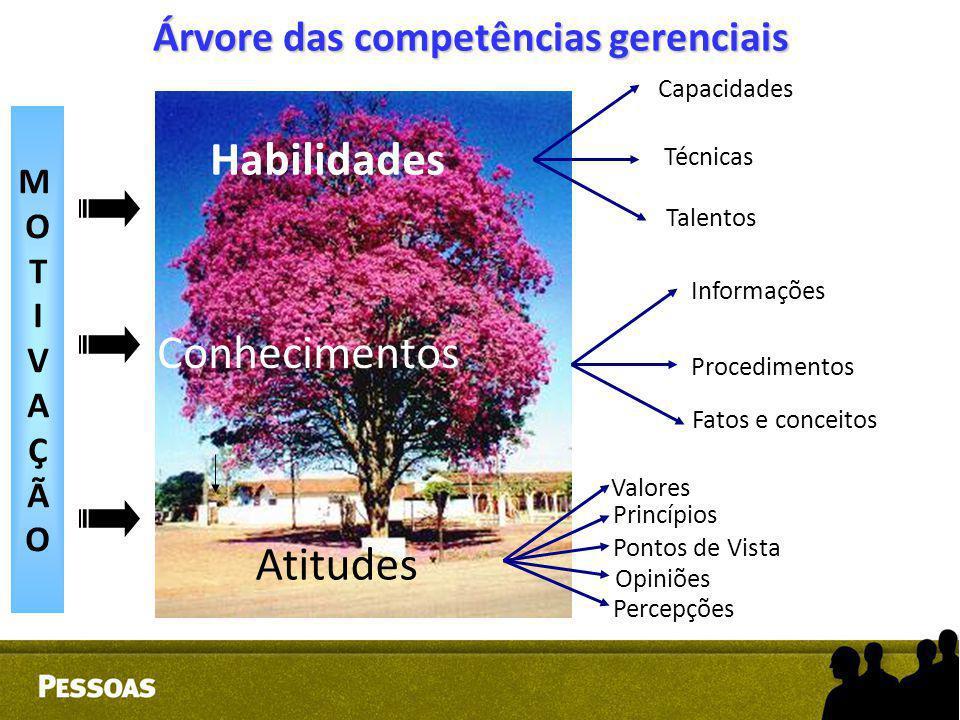 Árvore das competências gerenciais