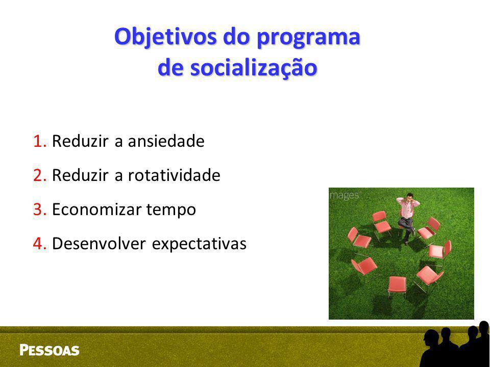 Objetivos do programa de socialização