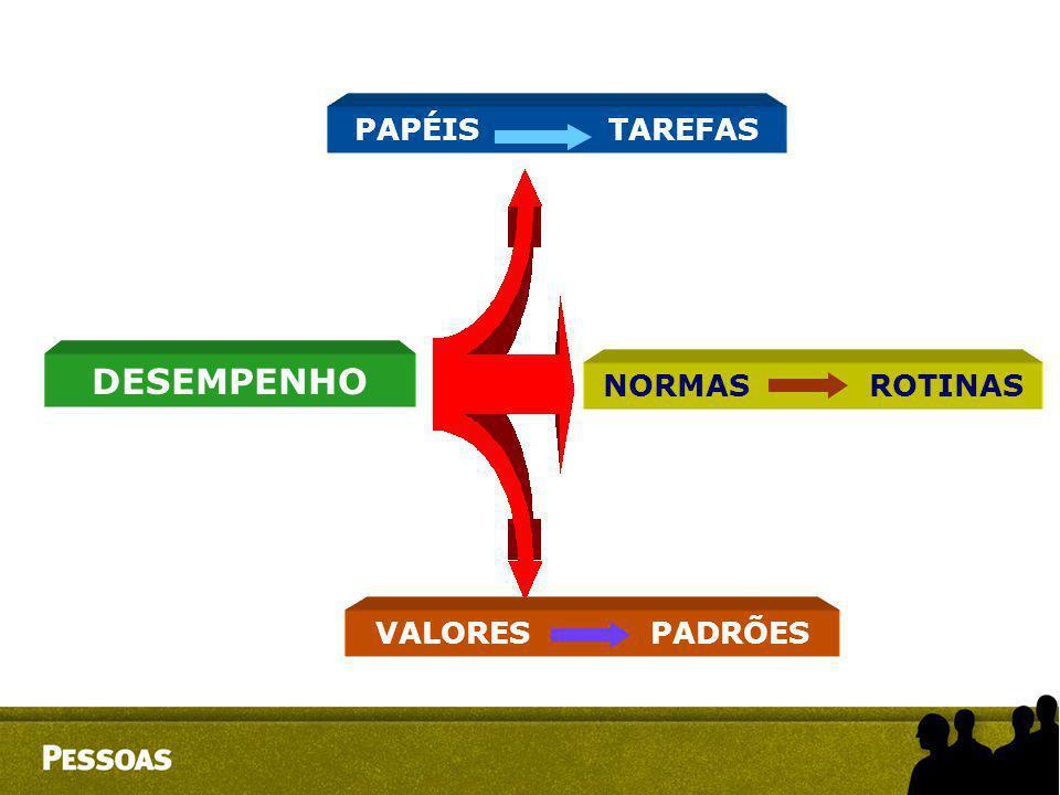 PAPÉIS TAREFAS DESEMPENHO NORMAS ROTINAS VALORES PADRÕES