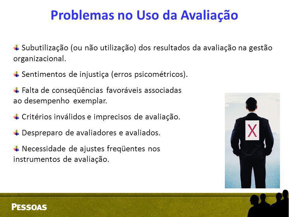 Problemas no Uso da Avaliação