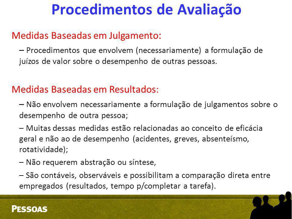 Procedimentos de Avaliação