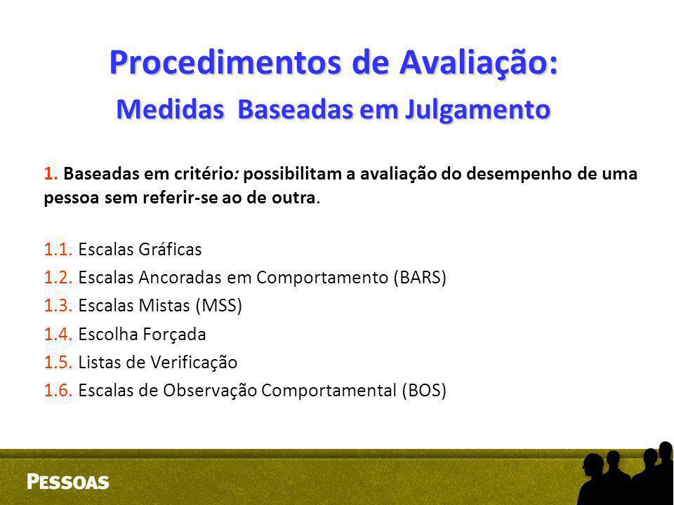 Procedimentos de Avaliação: Medidas Baseadas em Julgamento