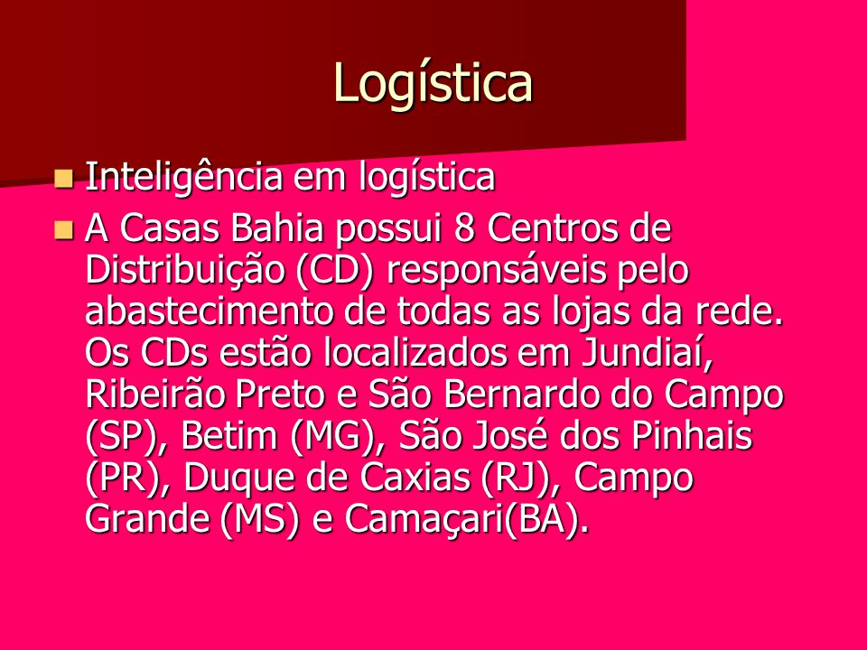 Logística Inteligência em logística