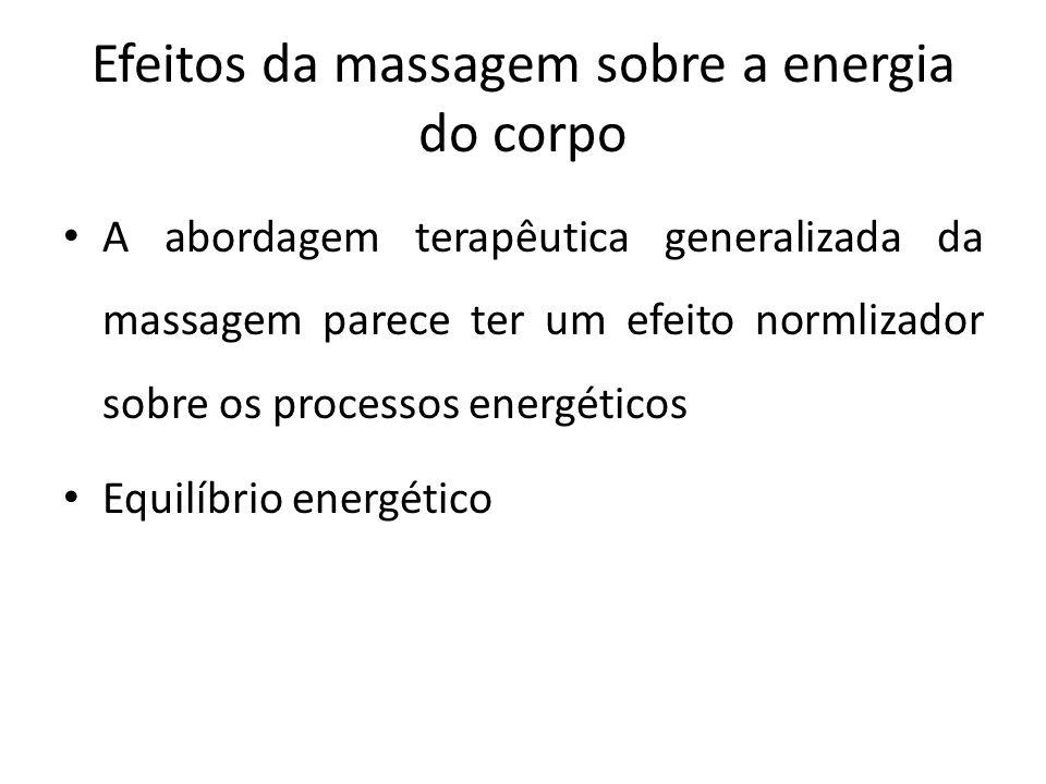 Efeitos da massagem sobre a energia do corpo