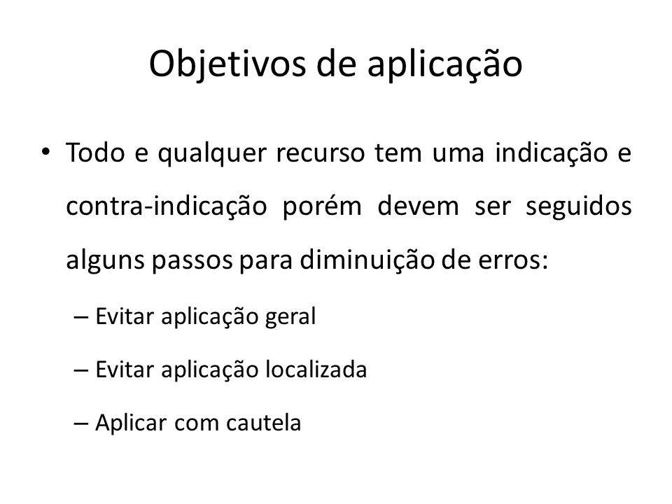 Objetivos de aplicação