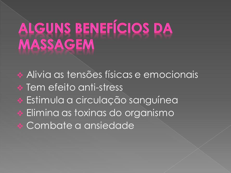 Alguns Benefícios da Massagem