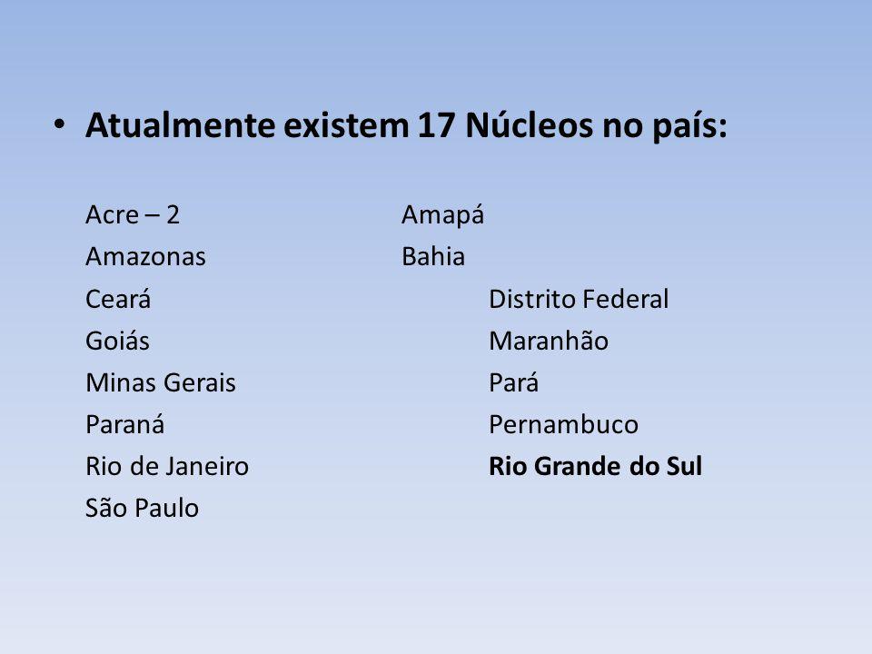 Atualmente existem 17 Núcleos no país: