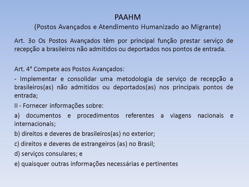 PAAHM (Postos Avançados e Atendimento Humanizado ao Migrante)