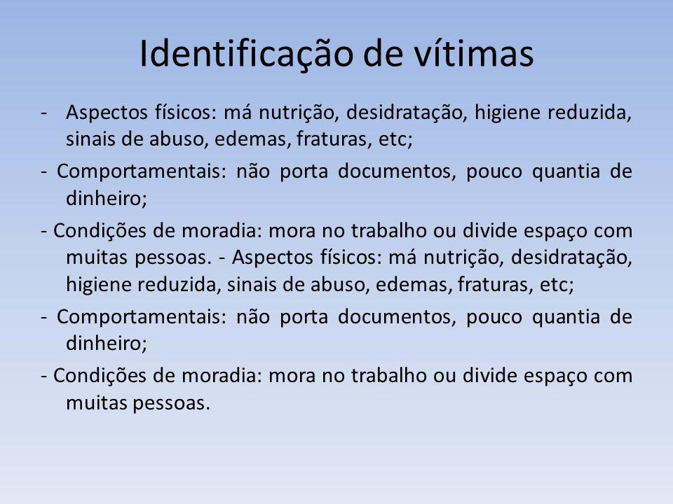 Identificação de vítimas