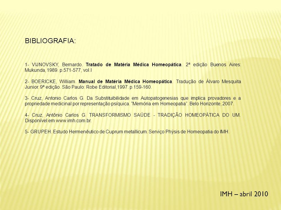 BIBLIOGRAFIA: IMH – abril 2010