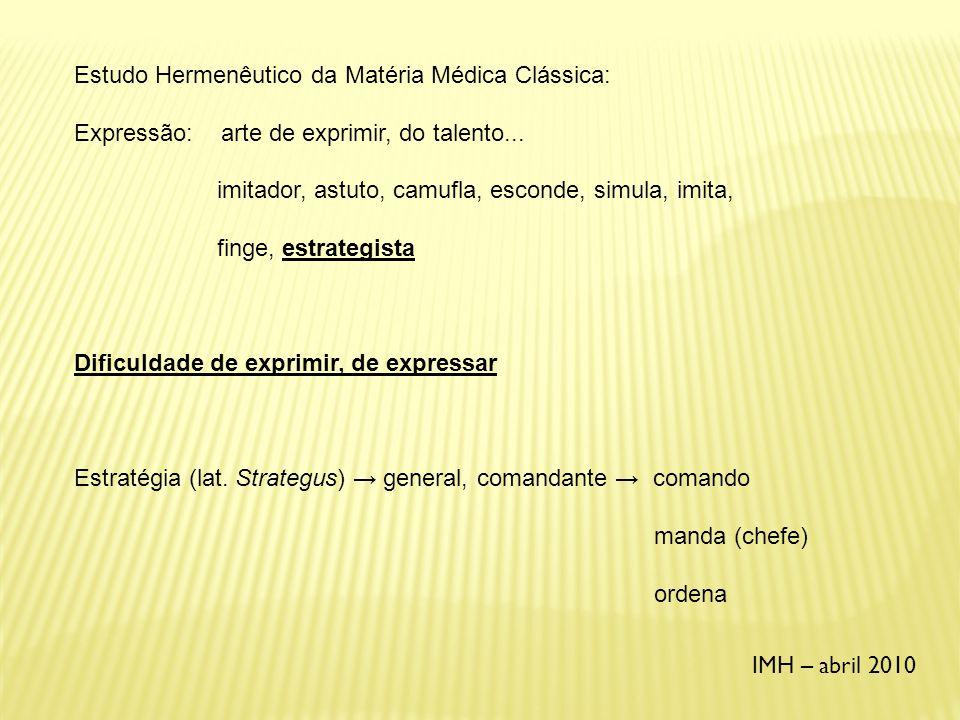 Estudo Hermenêutico da Matéria Médica Clássica: