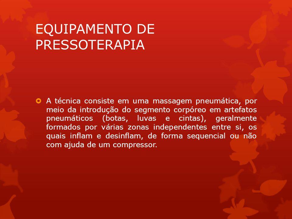 EQUIPAMENTO DE PRESSOTERAPIA