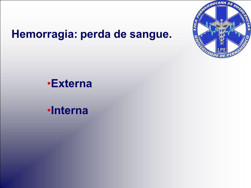 Hemorragia: perda de sangue.