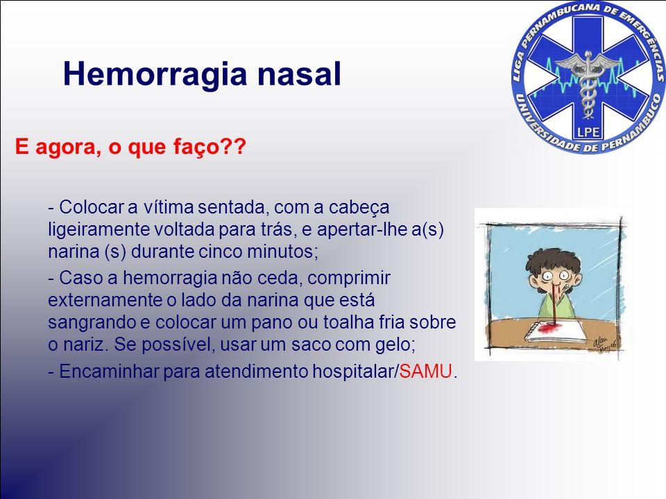 Hemorragia nasal E agora, o que faço
