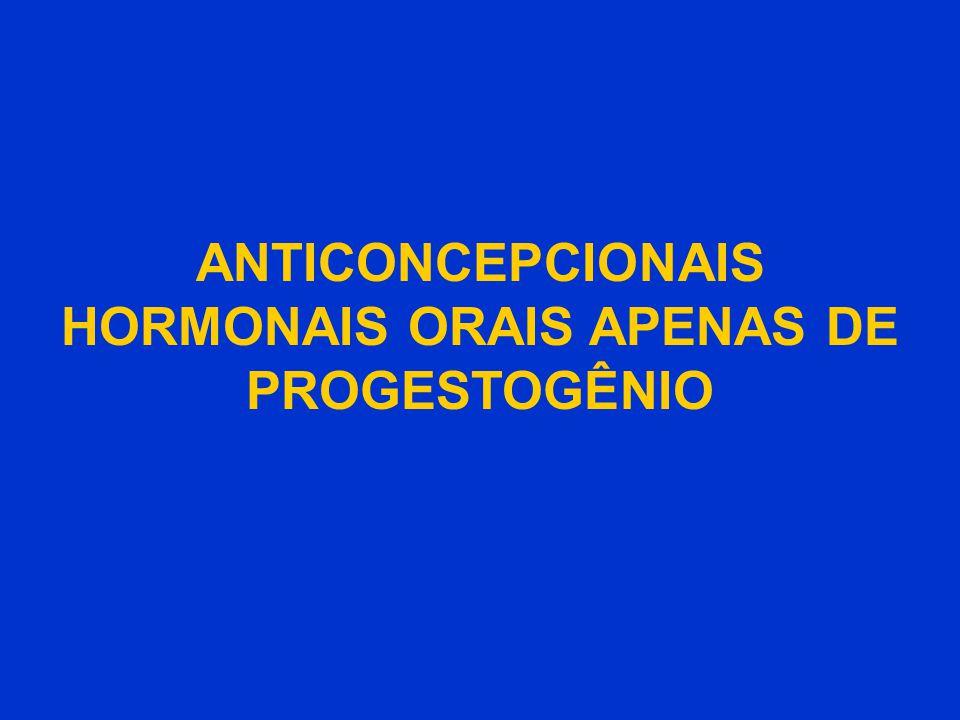 ANTICONCEPCIONAIS HORMONAIS ORAIS APENAS DE PROGESTOGÊNIO