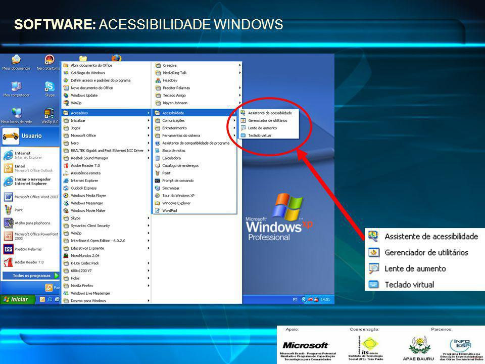 SOFTWARE: ACESSIBILIDADE WINDOWS