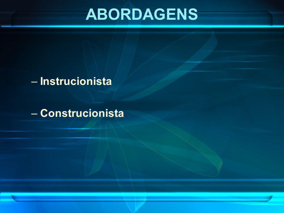 ABORDAGENS Instrucionista Construcionista