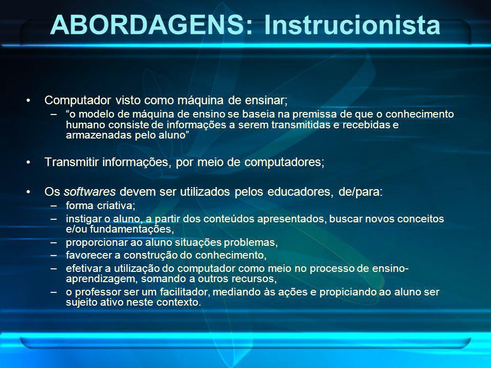 ABORDAGENS: Instrucionista