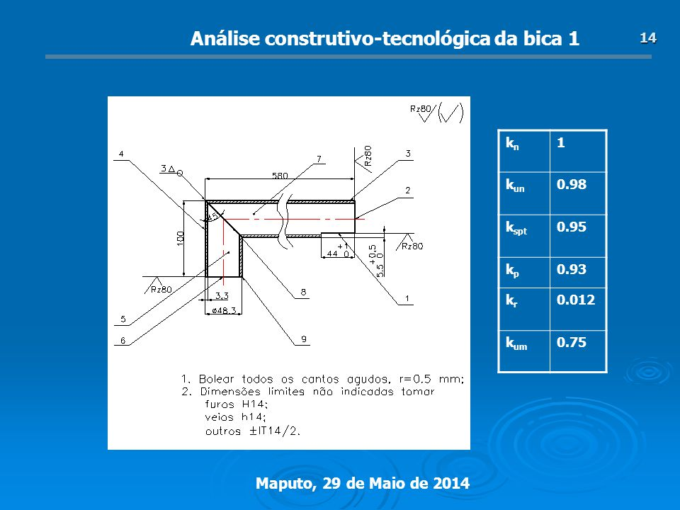 Análise construtivo-tecnológica da bica 1