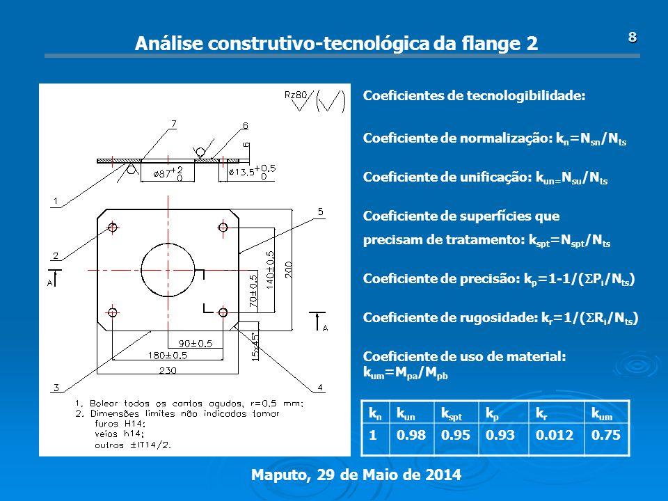 Análise construtivo-tecnológica da flange 2