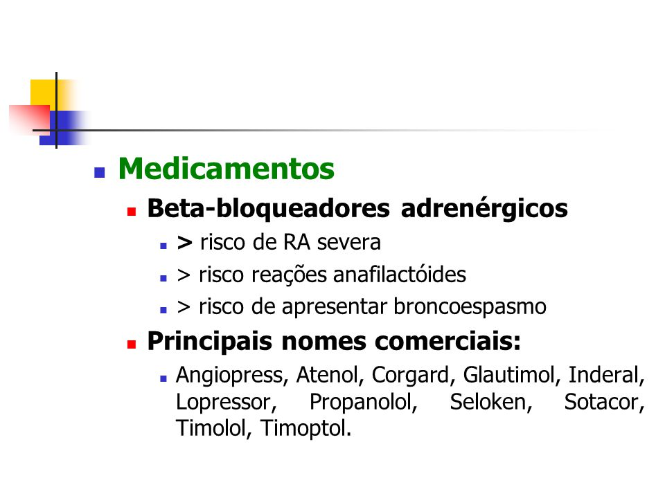 Medicamentos Beta-bloqueadores adrenérgicos