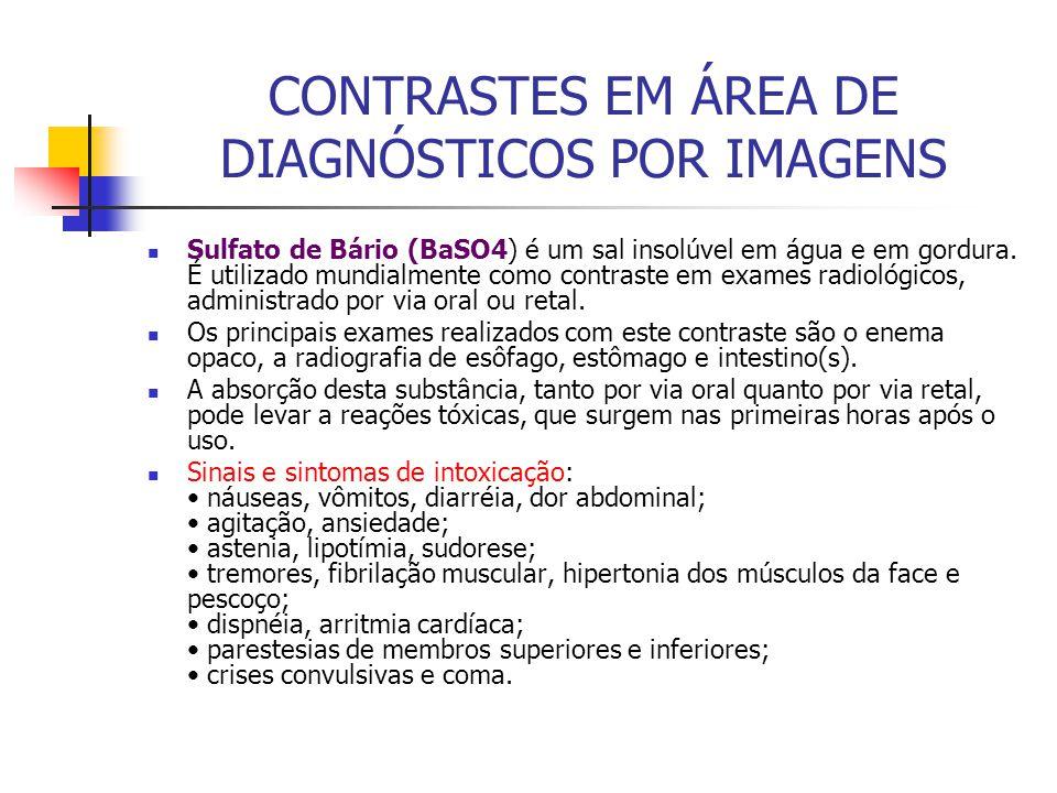 CONTRASTES EM ÁREA DE DIAGNÓSTICOS POR IMAGENS