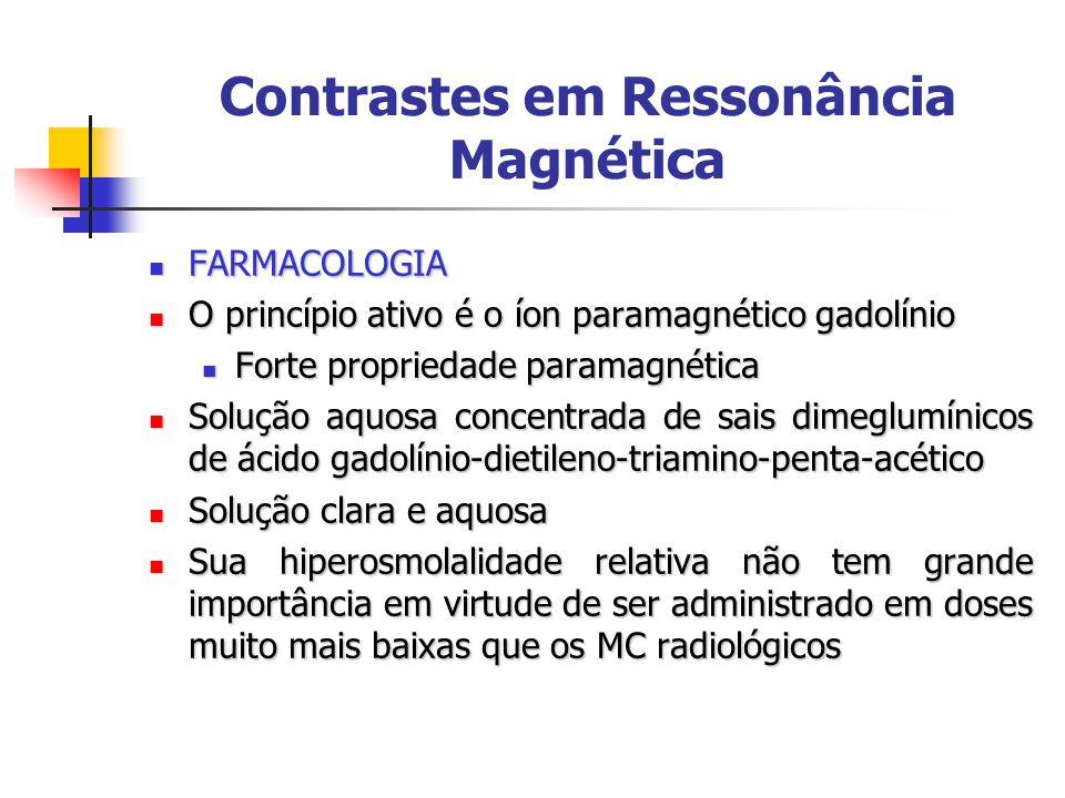 Contrastes em Ressonância Magnética