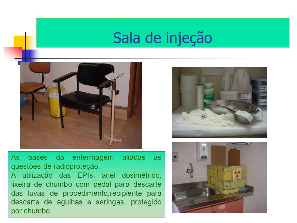 Sala de injeção As bases da enfermagem aliadas às questões de radioproteção: