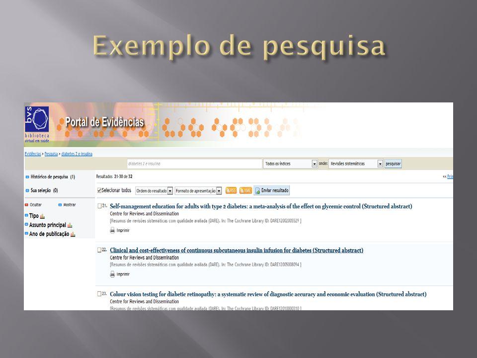 Exemplo de pesquisa