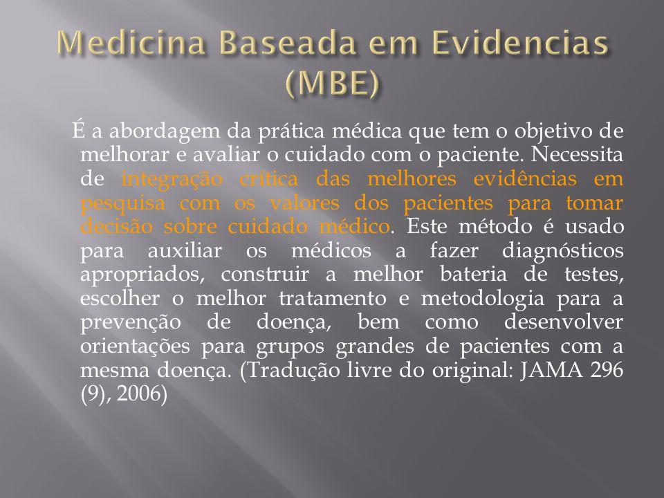 Medicina Baseada em Evidencias (MBE)