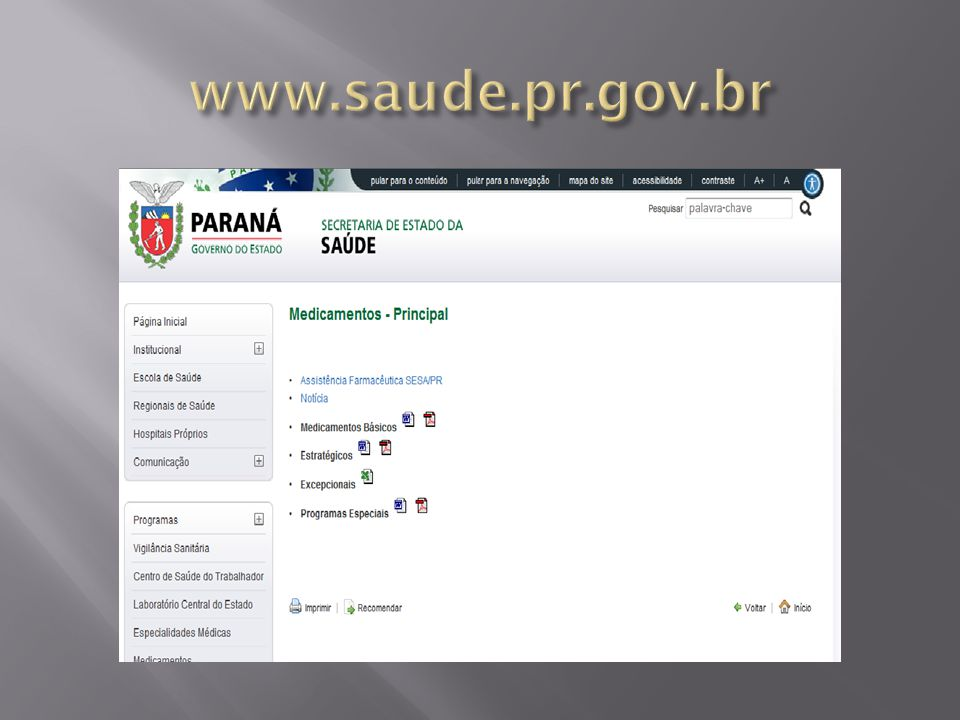 www.saude.pr.gov.br