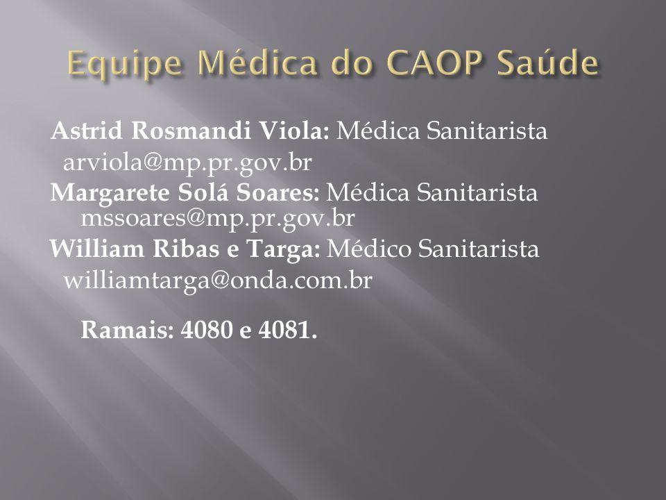 Equipe Médica do CAOP Saúde