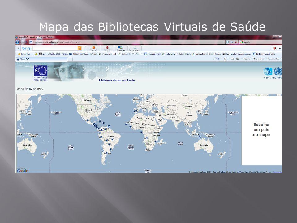 Mapa das Bibliotecas Virtuais de Saúde