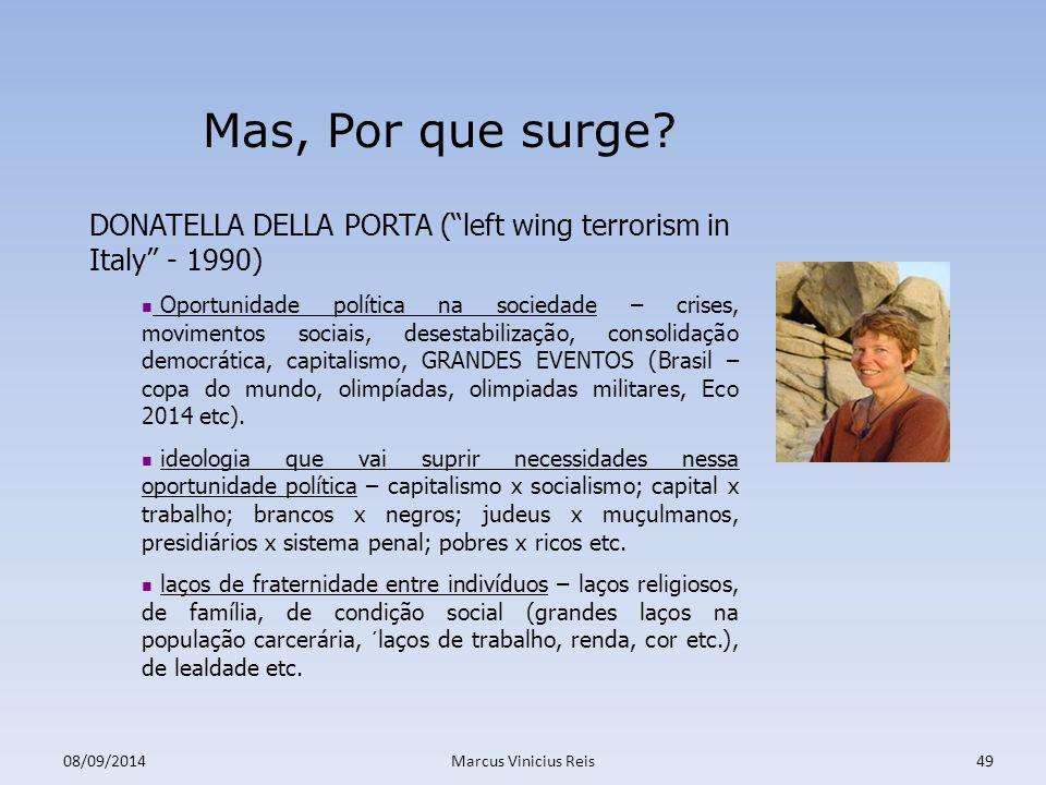 Mas, Por que surge DONATELLA DELLA PORTA ( left wing terrorism in Italy - 1990)