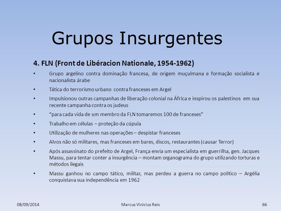 Grupos Insurgentes 4. FLN (Front de Libéracion Nationale, 1954-1962)