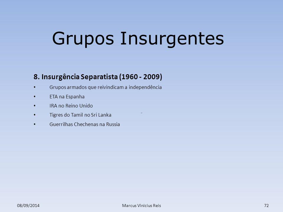 Grupos Insurgentes 8. Insurgência Separatista (1960 - 2009)