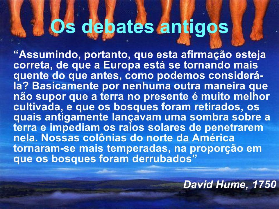 Os debates antigos David Hume, 1750