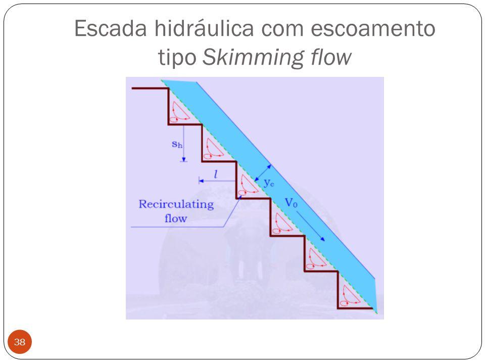 Escada hidráulica com escoamento tipo Skimming flow